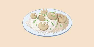 гриби з рисом