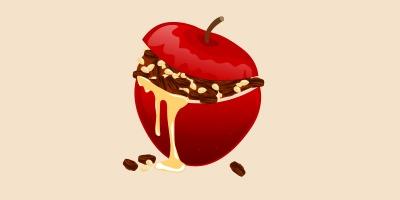 яблуко, фаршироване родзинками