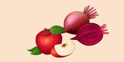 буряк та яблука