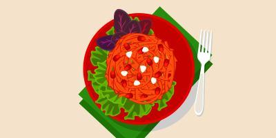 Салат із моркви з горіхами