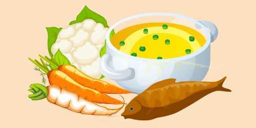рибний бульйон з овочами