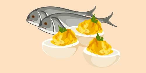 Яйця, фаршировані з рибою (оселедцем, кількою)