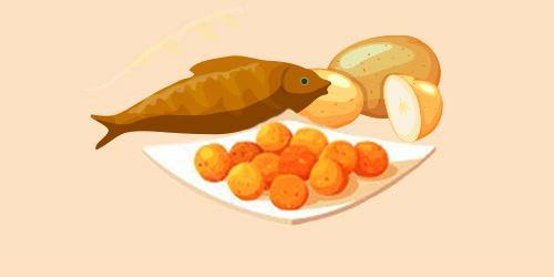 кульки з риби та картоплі