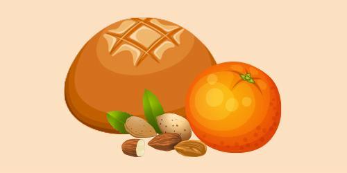 Хліб апельсиново-мигдальний