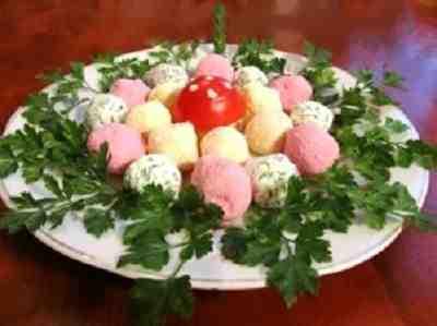 кольорові сирні кульки