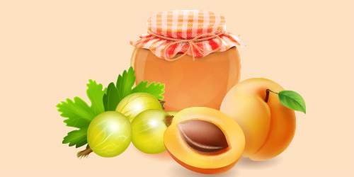 джем абрикосово-аґрусовий