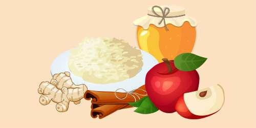 рис з яблуками, імбиром, корицею та медом