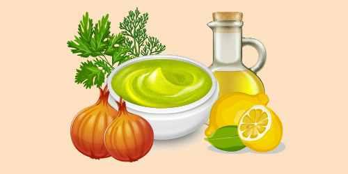 соус із зеленню, цибулею, олією та лимонним соком