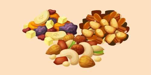 горіхово-фруктово-кукурудзяна суміш