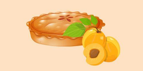 абрикосовий пиріг