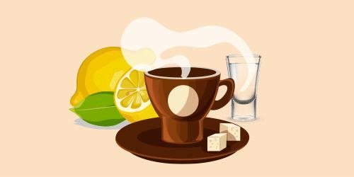 кавовий грог з горілкою та лимоном