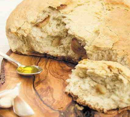Хліб оливковий з печеним часником
