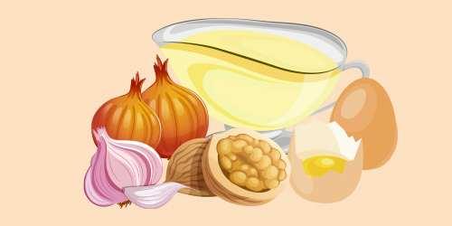 соус з волоськими горіхами, цибулею, часником і яйцями