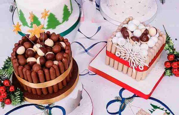 Торт різдвяний швидкий «Шоколад і солодощі»
