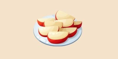 нарізані яблука, начинка з яблук