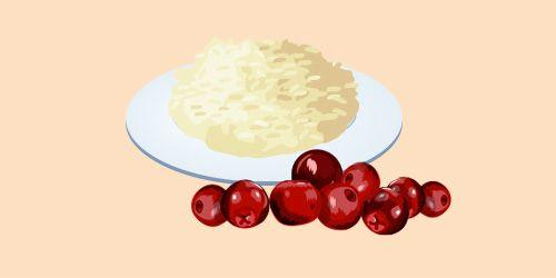 рис із журавлиною