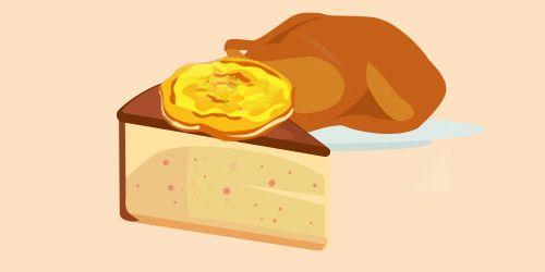 бісквіт з індичкою та яєчнею-колотухою
