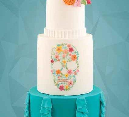 Торт «Квітковий череп»