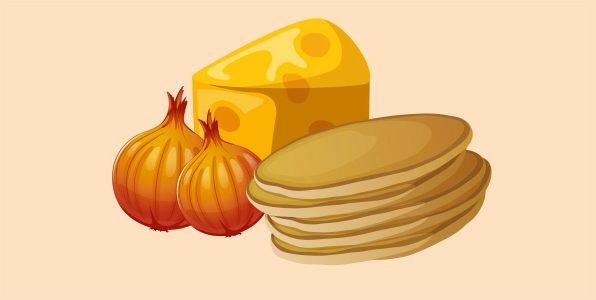 млинчастий пиріг з сиром і цибулею