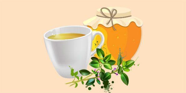 зелений чай з чебрецем і медом