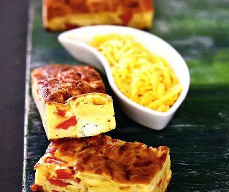 Пиріг сирний з червоним перцем