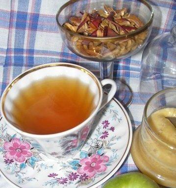 Чай яблучний з недозрілих яблук