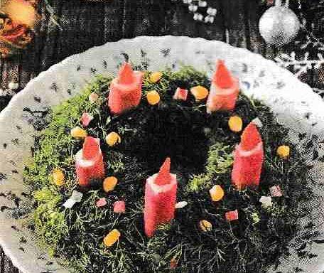 Салат із крабових паличок і кукурудзи