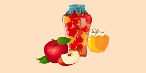 яблука на зиму (компот або мочені) з медом