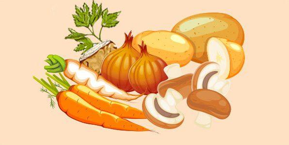 гриби картопля морква петрушка селера цибуля