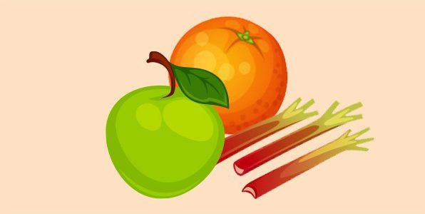 Апельсин яблуко ревінь