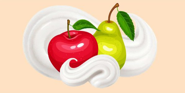 Яблука груші вершки