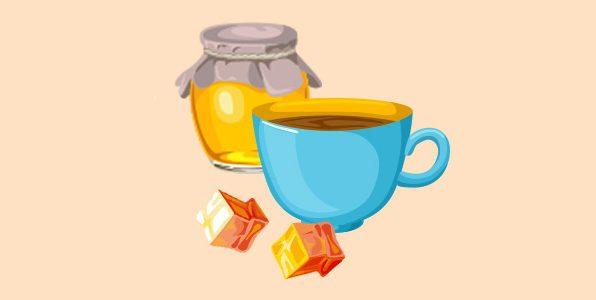 Кава з медом і кубики льоду