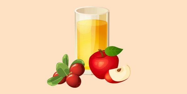 яблучний сік з брусницею
