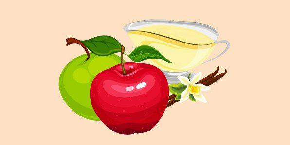 Яблука з ванільним соусом
