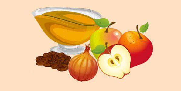 яблучний соус з цибулею та родзинками
