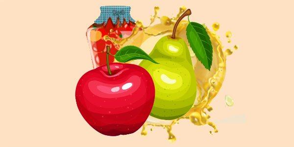 Яблука та груші у власному соку