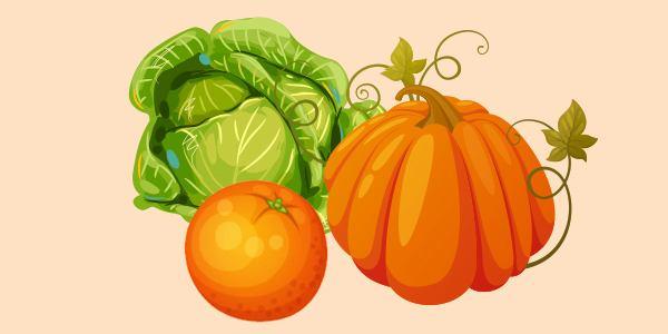 апельсин гарбуз капуста