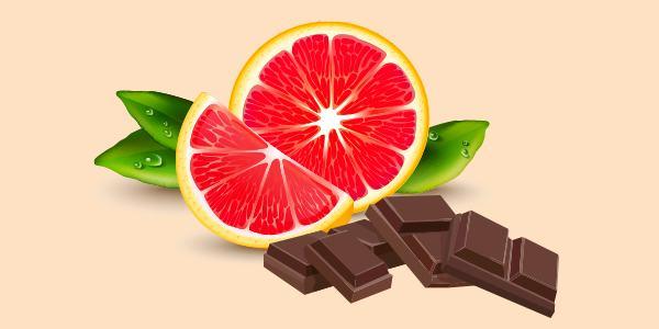 Грейпфрут і шоколад