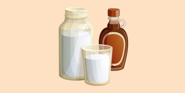 молоко з сиропом