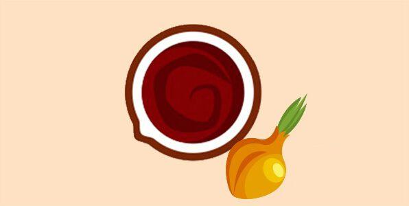 коричневий соус з вином і цибулею