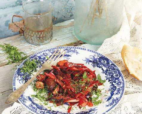 Риба біла з овочами