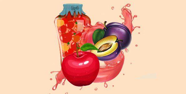 Яблука в соку сливовому