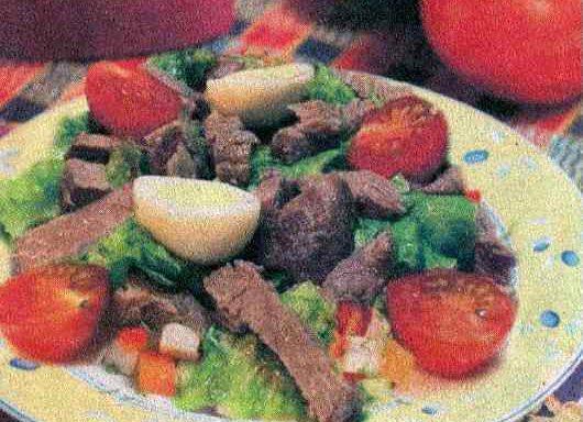 Яловичина з помідорами та яйцями