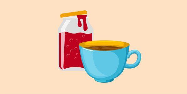 Кава з варенням