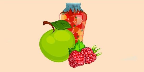 компот з яблук і малини