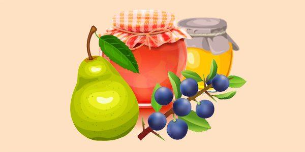 Варення грушево-теренове з медом