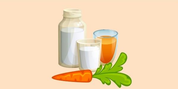 молоко з морквяним соком
