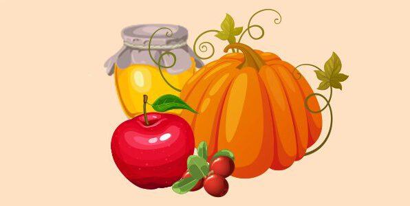 гарбуз, брусниця, мед, яблука
