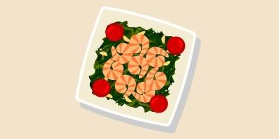 Креветки зі шпинатом