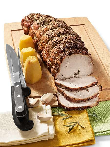 Свиняча вирізка, запечена по-тосканськи